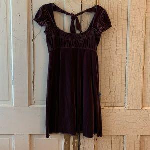 Free People purple velvet dress Size Medium